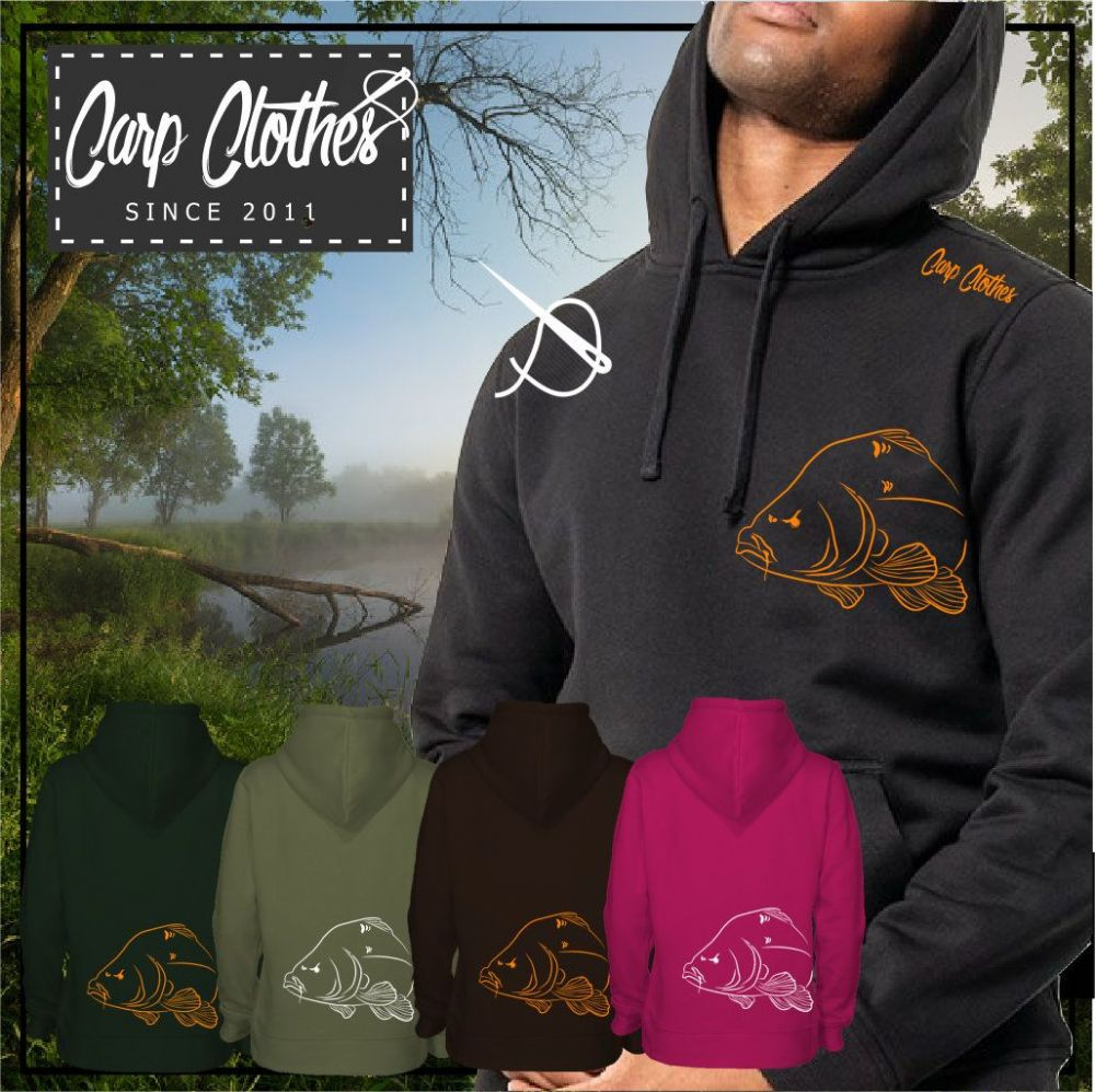 036 EMBROIDERED CARP  HOODIE
